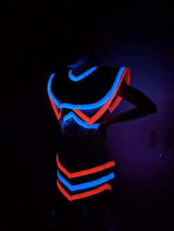 glow resin closeup