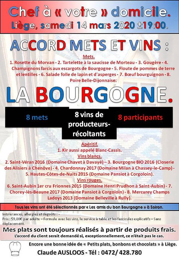 Affiche Accord mets et vins Bourgogne.jp