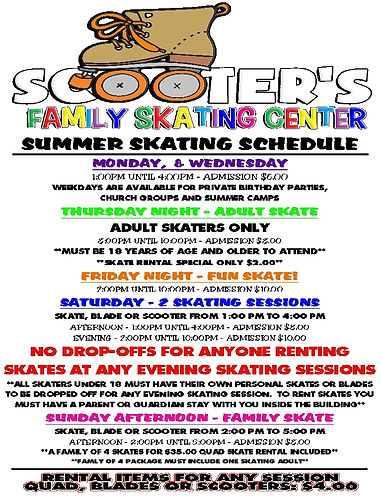 Scooter's Summer Schedule - 2021 - FULL.