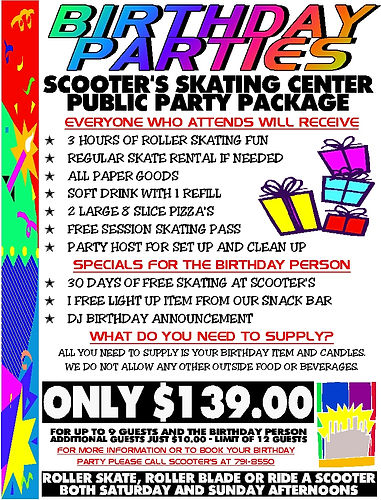 Scooter's Public Session Birthday Partty