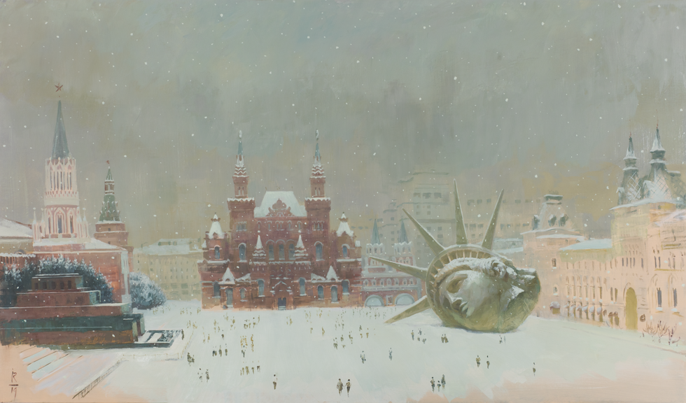 Снежинка, 2019 холст/масло, 100 х 170