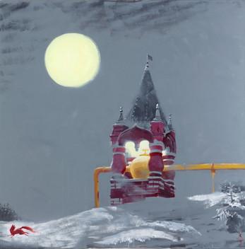 Псевдорусский Газгольдер, 2015 холст/масло, 140 x 150