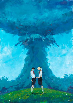 Летний сон 1979 года, 2017 холст/акрил, 70 x 50