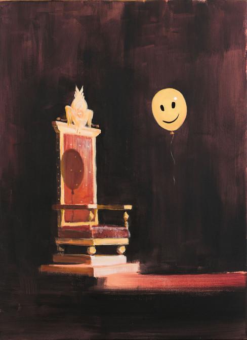 Пустой трон, 2019 холст/масло/акрил, 75 х 55