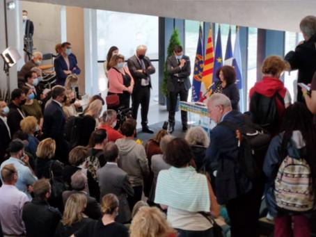 Inauguration du campus de Cannes Georges Méliès par le maire de Cannes et la ministre Vidal !
