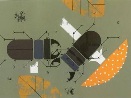 Charlie Harper inspired bug collages