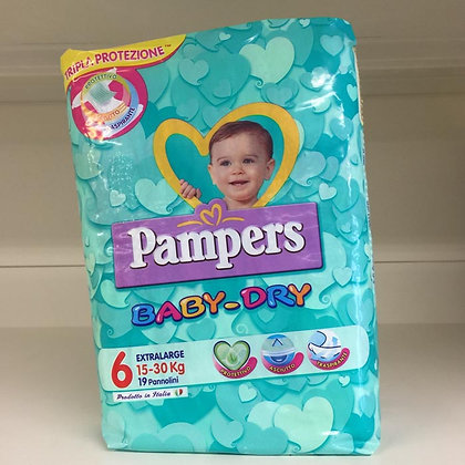 Pampers Baby-Dry 6 15-30 kg.