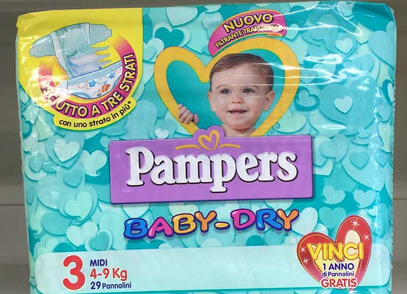 Pannolini Pampers Baby-Dry 3  4-9 kg.