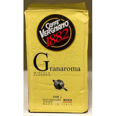 Caffe' GranAroma VERGNANO 250 gr.