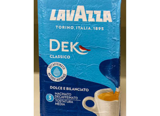 CAFFE LAVAZZA DEK 250 GR