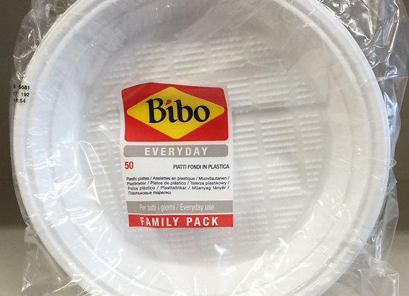 50 Piatti Plastica Bibo