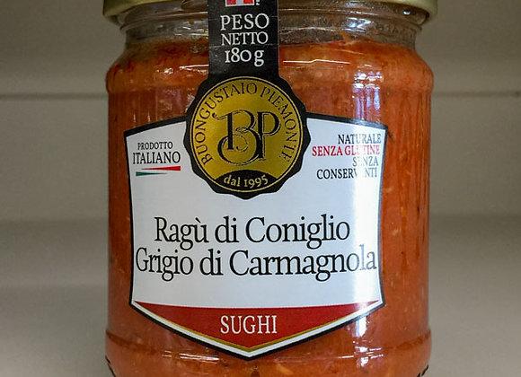 Ragù Coniglio Carmagnola Piemonte 180gr