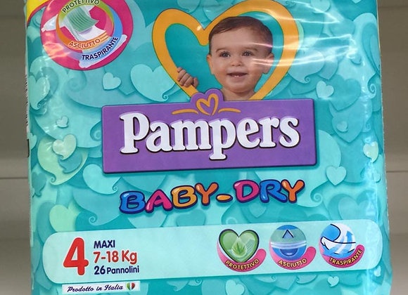 Pannolini Pampers Baby-Dry 4  7-18 kg.