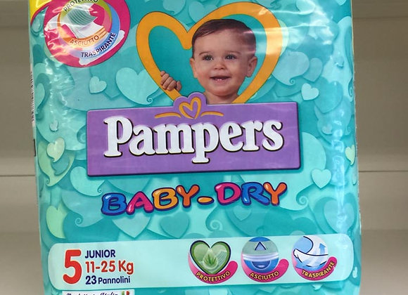 Pannolini Pampers Baby-Dry 5 11-25 kg.