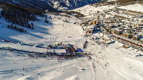 Panorama delle gare dal drone
