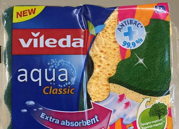 2 Spugne Aqua Vileda