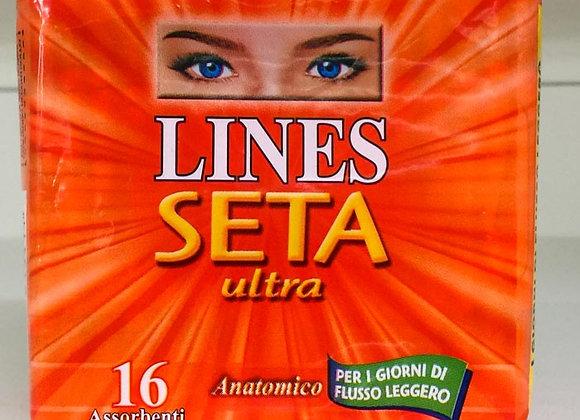 16 Assorbenti Leggeri Lines Seta Ultra