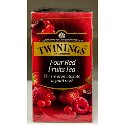 Four Red Fruits Tea TWININGS 25 bs.