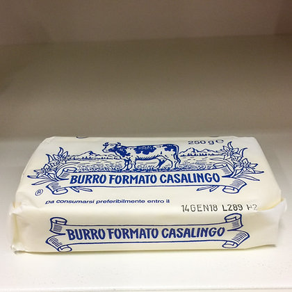 Burro FORMATO CASALINGO 250 g.