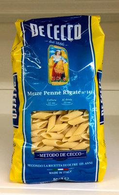 MEZZE PENNE RIGATE De Cecco 500 gr.