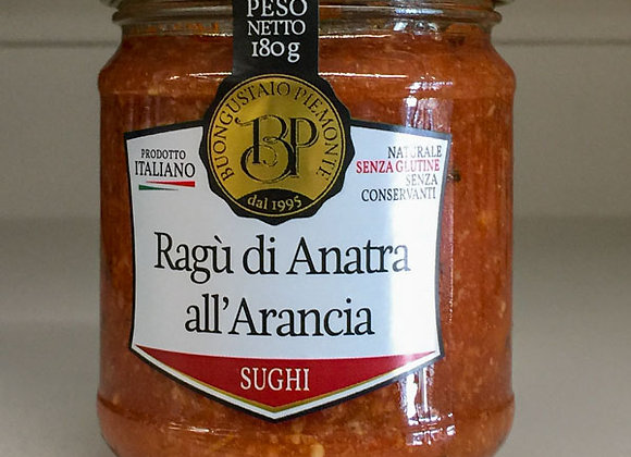 Ragù Anatra Arancia Piemonte 180gr