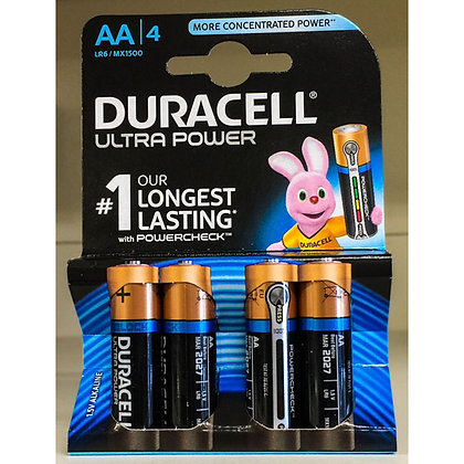 4 PILE ULTRA DURACELL STILO