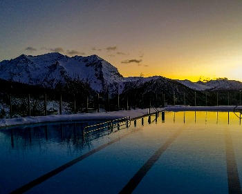 PISCINA di SESTRIERE tramonto