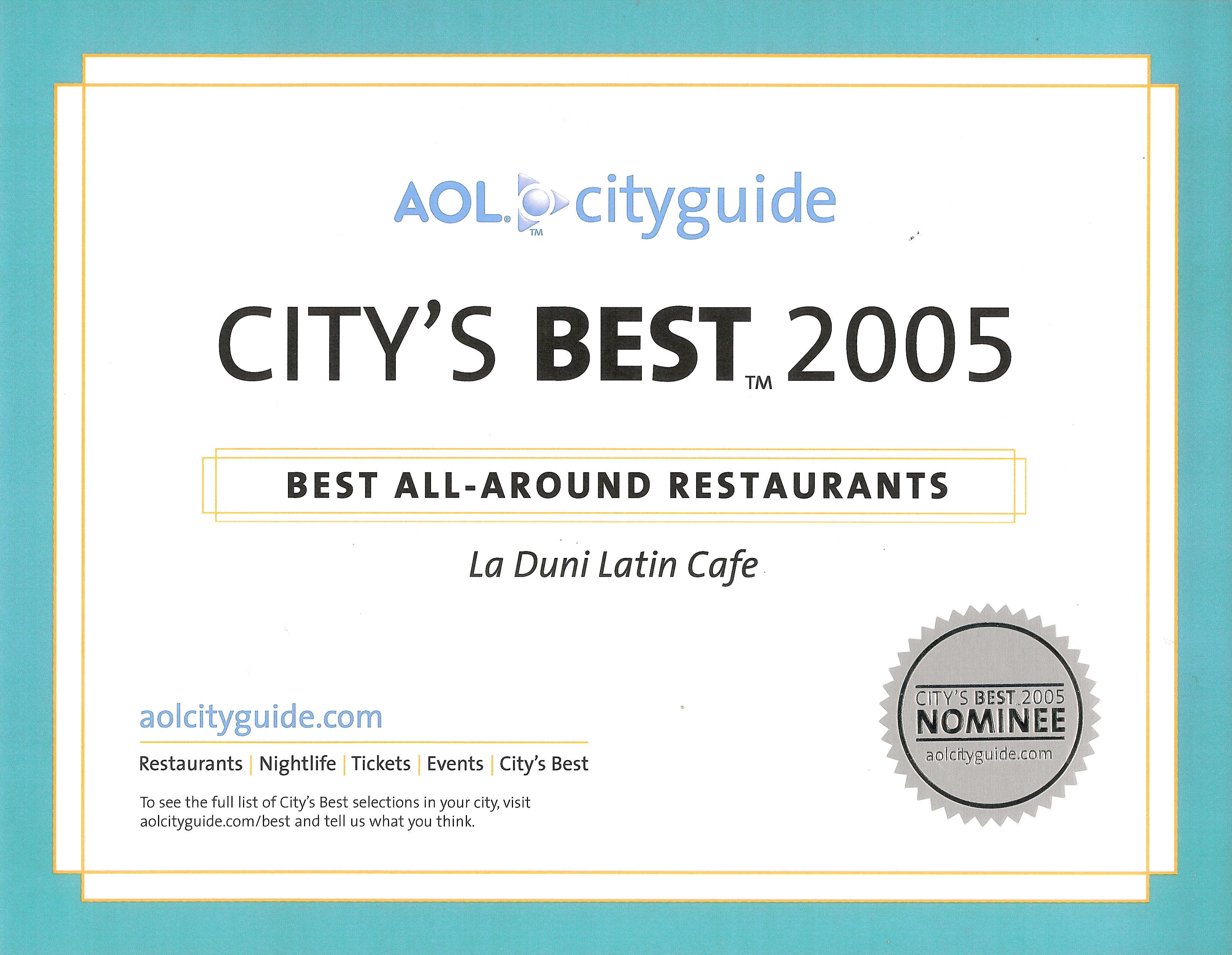 82 AOL Citys Best 05