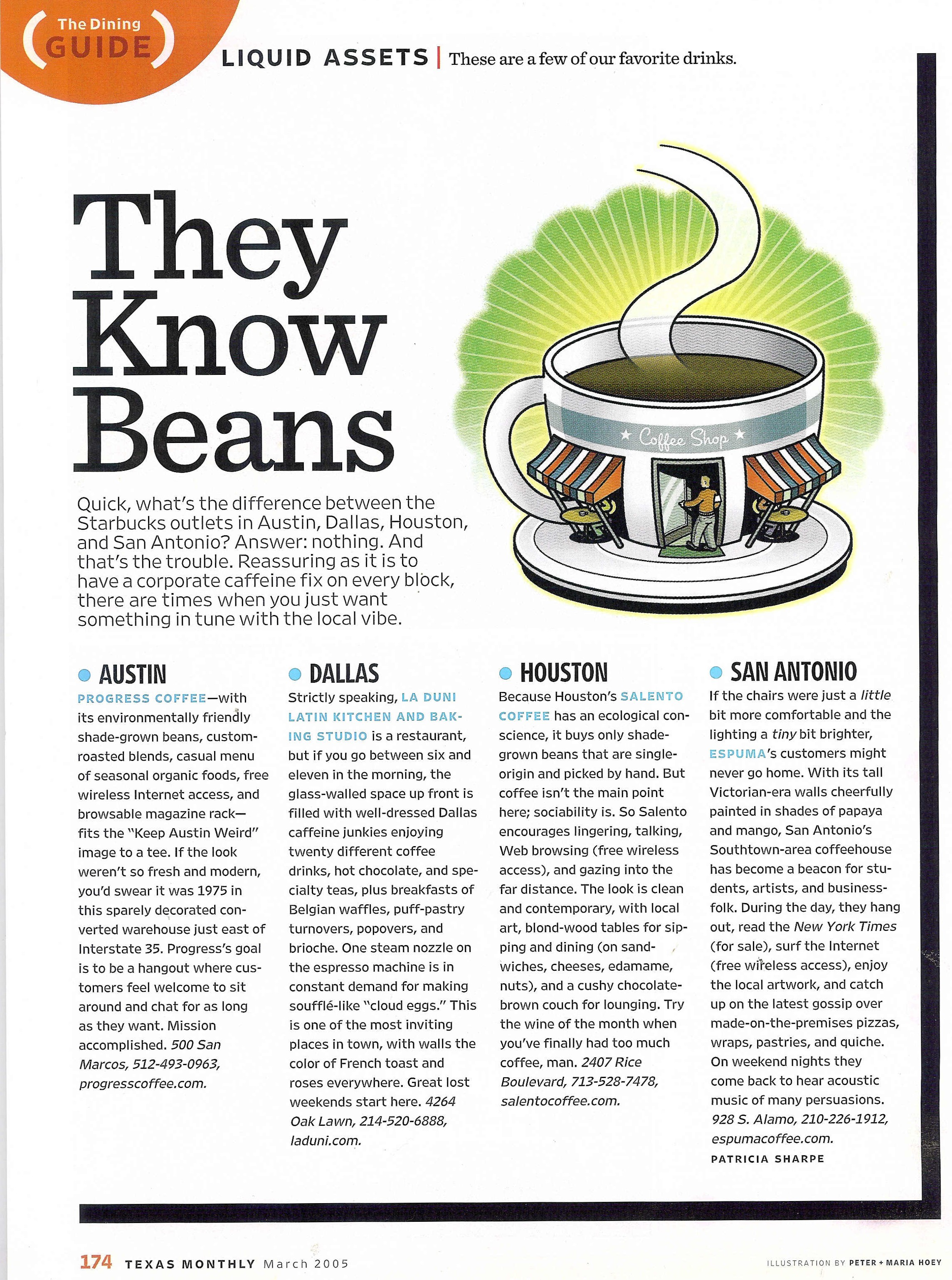 84 Texas Monthly Copy Coffee Beans