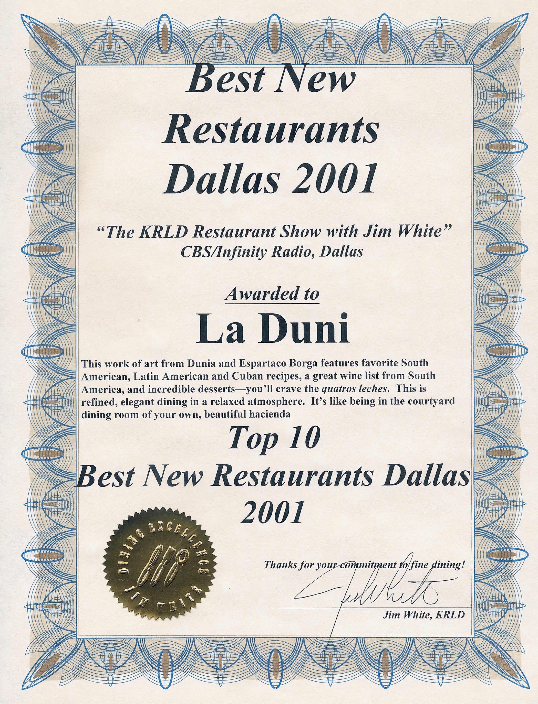 03 KRLD Best Restaurant Fx
