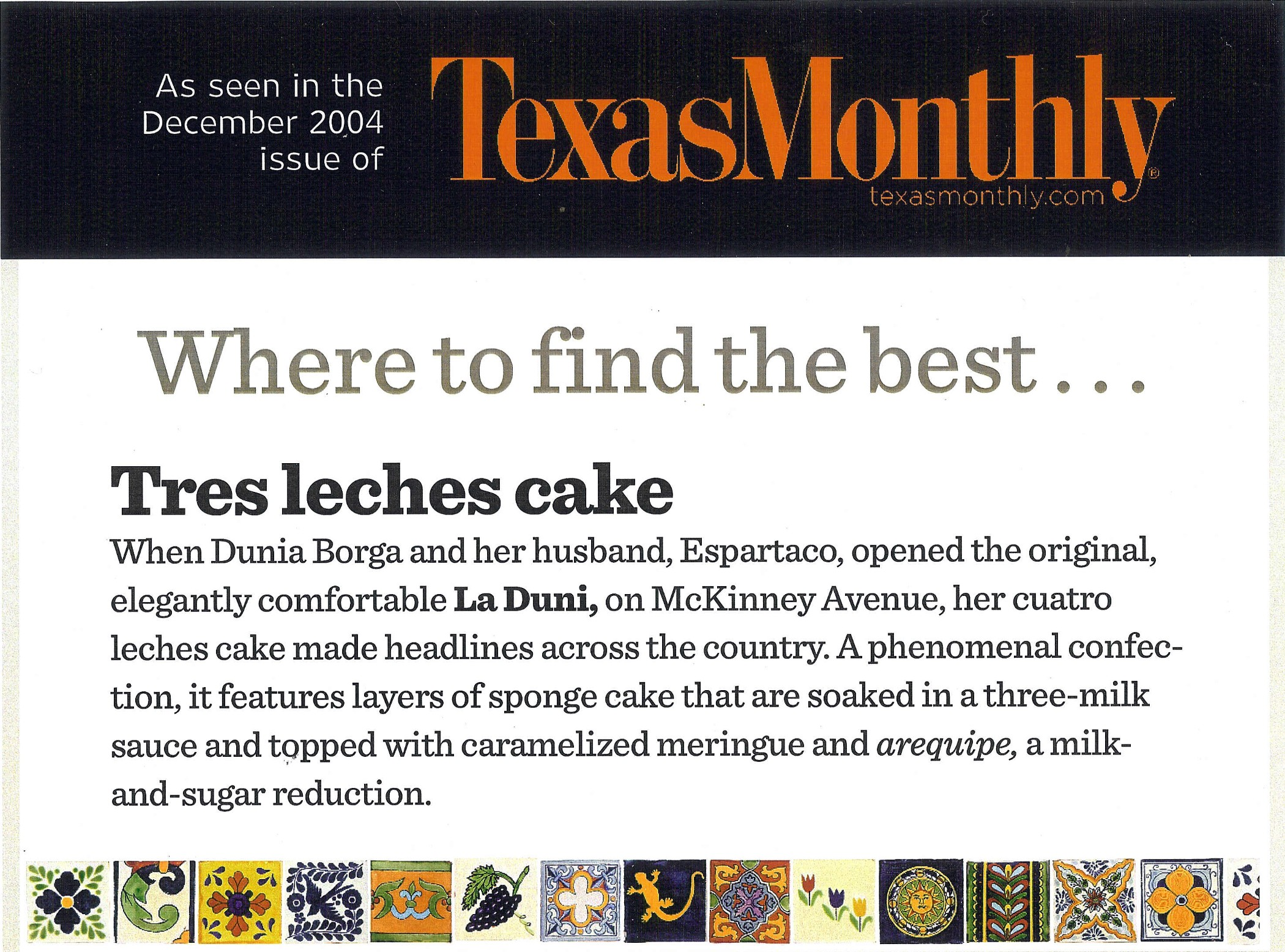 79 Texas Monthly Best 3 Leches