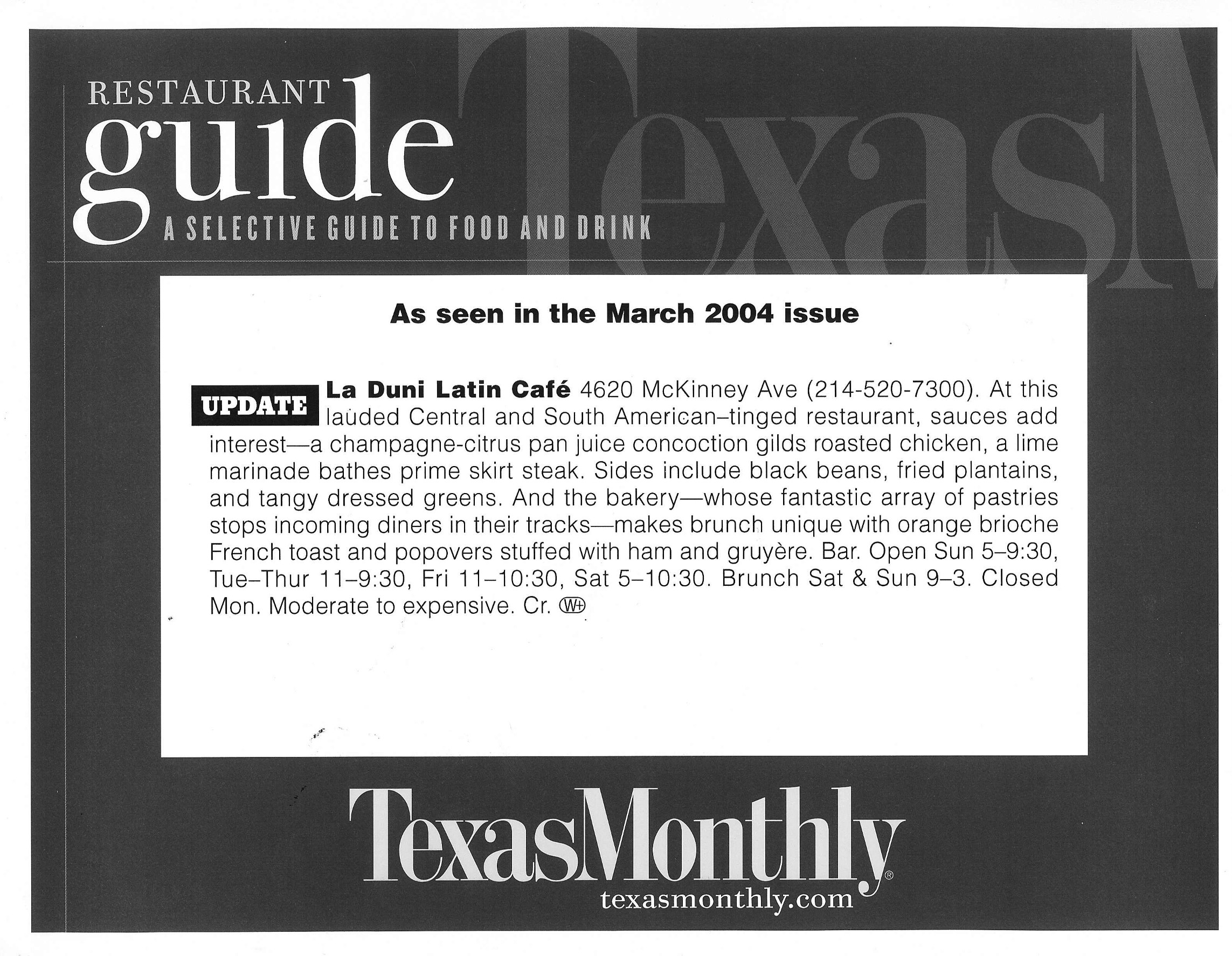 56 Texas Monthly March 04