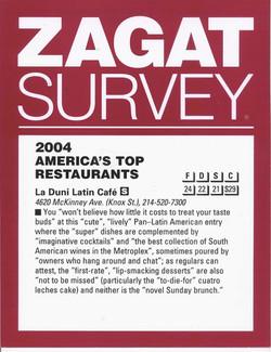57 Zagat 2004