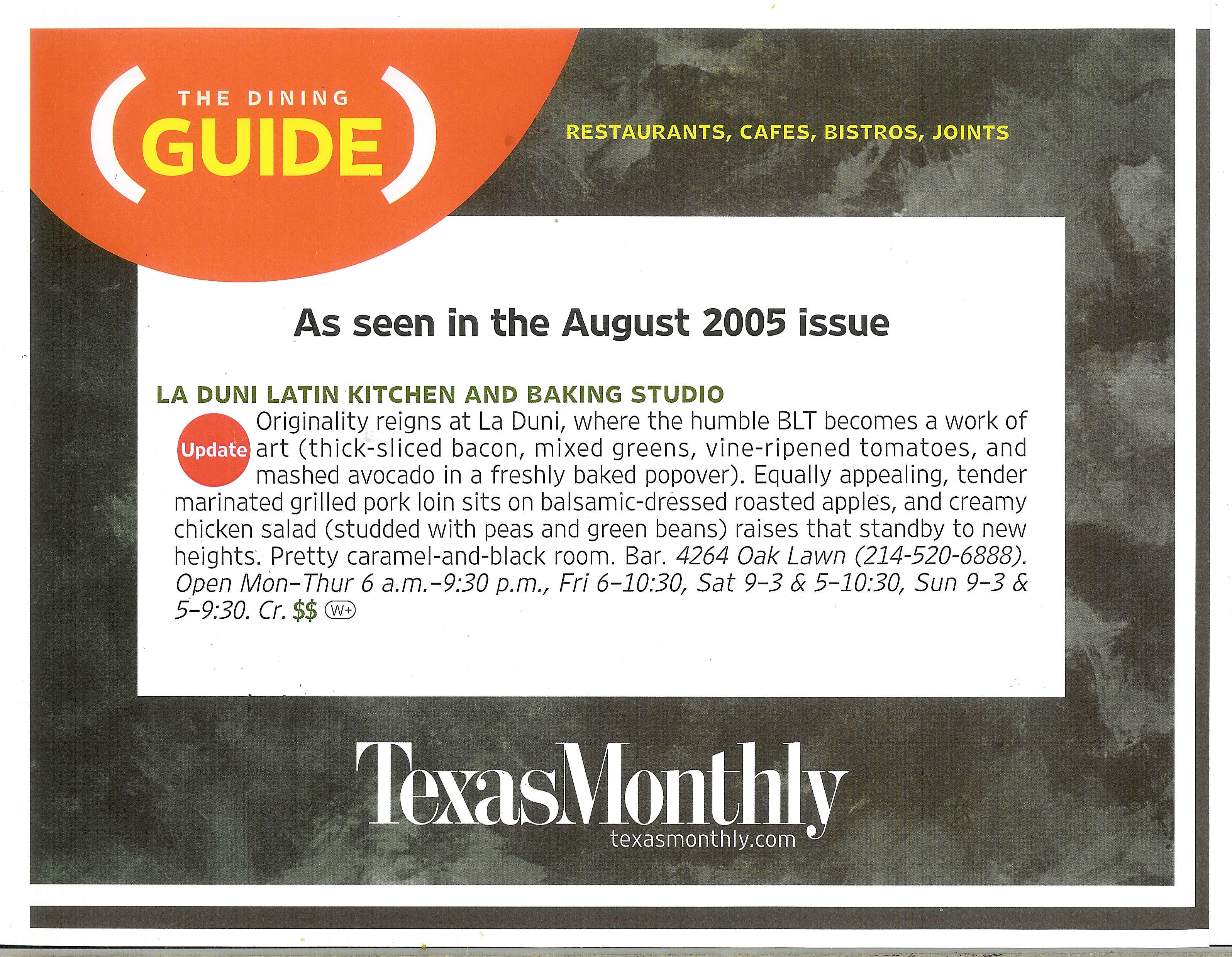 98 Texas Monthly Aug 05