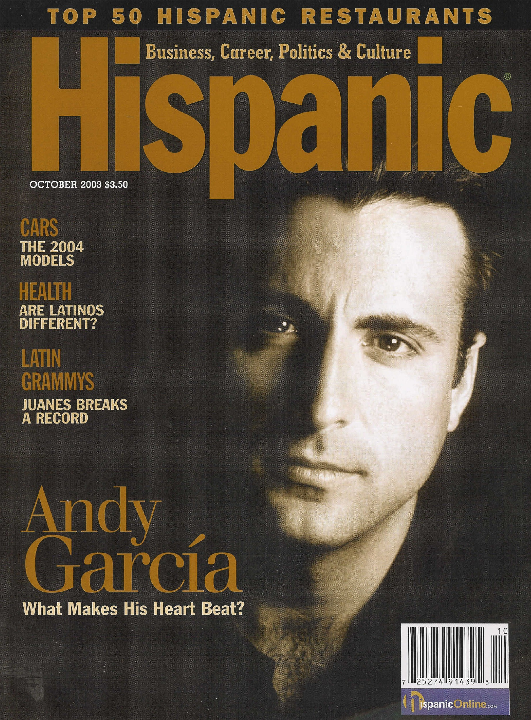 47 Hispanic Magazine Top 50 Cover