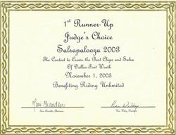 48 Salsa Award Judge