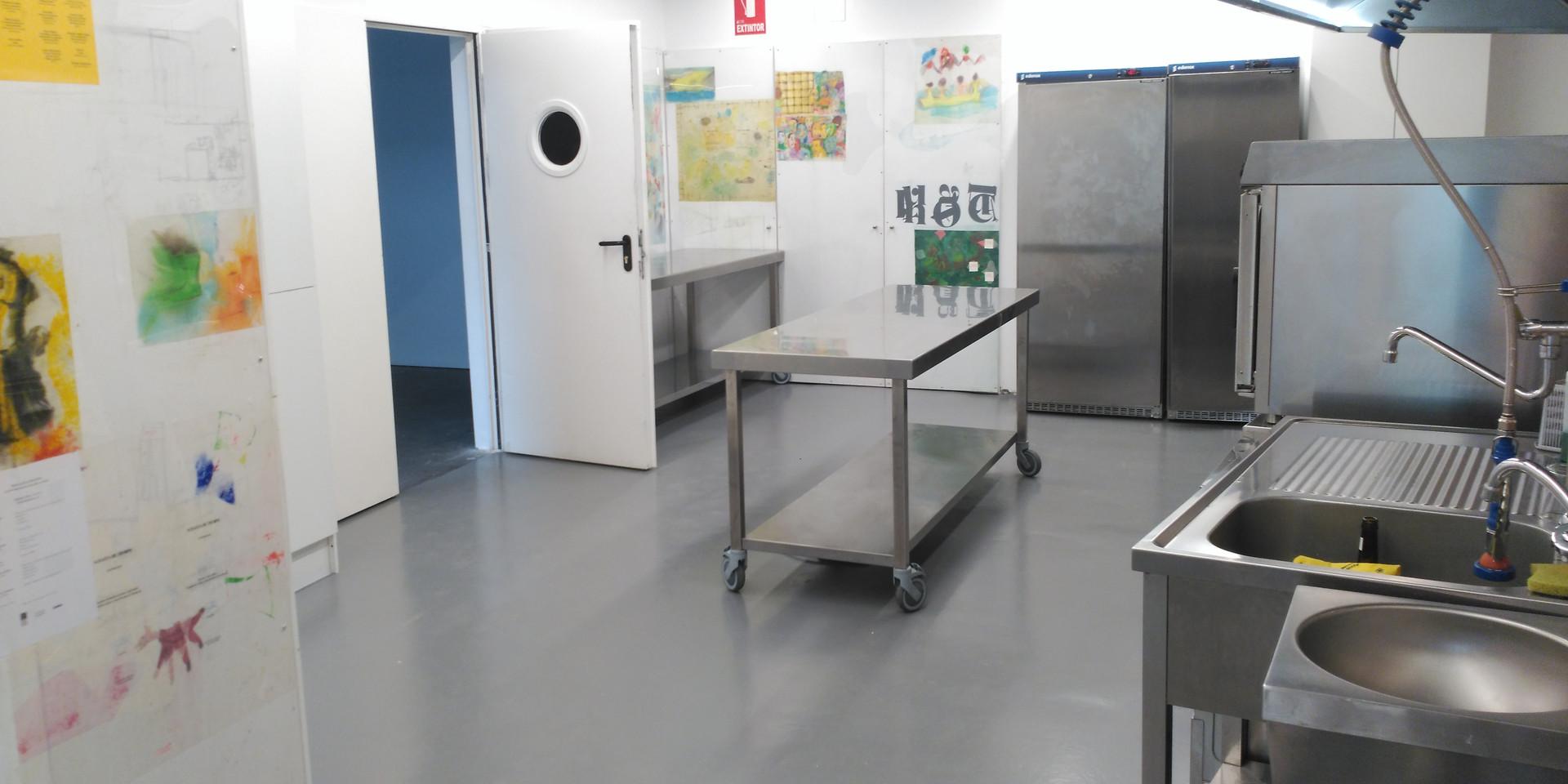 Vista Cocina Industrial, anexa a sala Refectorio
