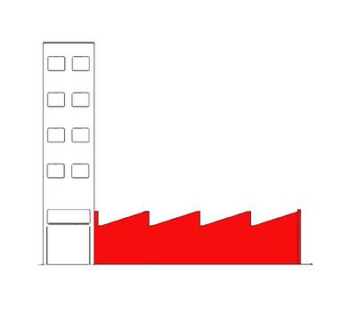 El Instante, Torre residencias y Nave