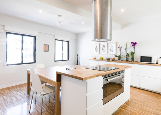 vista de la cocina residencia en 2ª piso