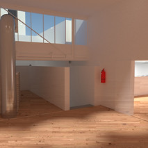 Sala Prototipos y entrada a Sala Balcón (entreplanta).