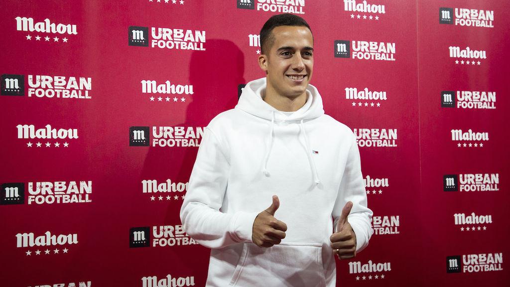 Lucas Vazquez en la inauguración de Urban Futbol de Mahou 2018