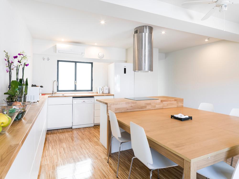 otra vista de la cocina residencia en 2ª