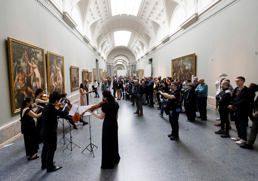 """""""Proyecto Persiles y Sigismunda"""" en el Museo del Prado, foto de Ángel Martínez - El Instante Fundación"""