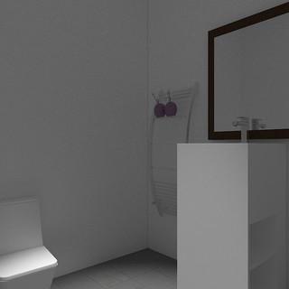 Vista baño con acceso minusválidos