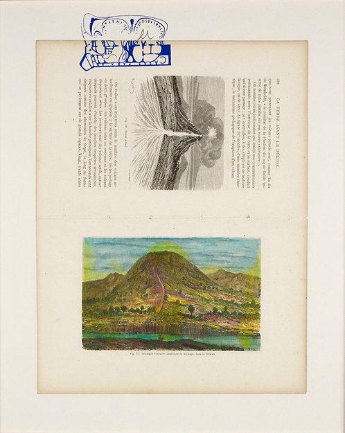 Fig.317 Montagne et cratere basaltique de la coupe, dans le vivarais