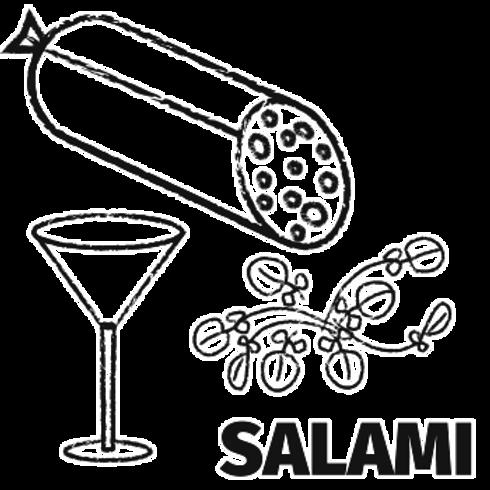 Watercress & Gin Salami (150g)