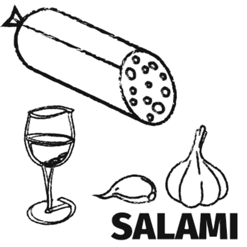 Red Wine & Garlic Salami (150g)