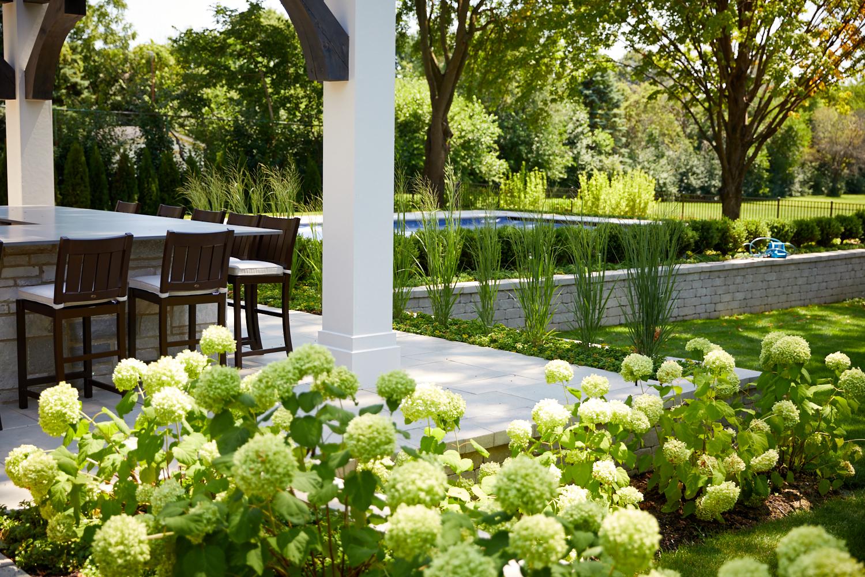 Outdoor kitchen, pergola and landscape Wheaton