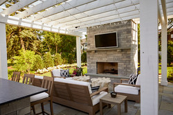Fire place and pergola Hinsdale