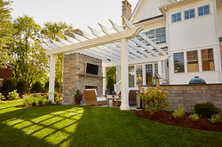 Pergola, fire place and outdoor kitchen Hinsdale